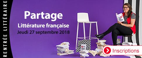 Partage rentrée littéraire française